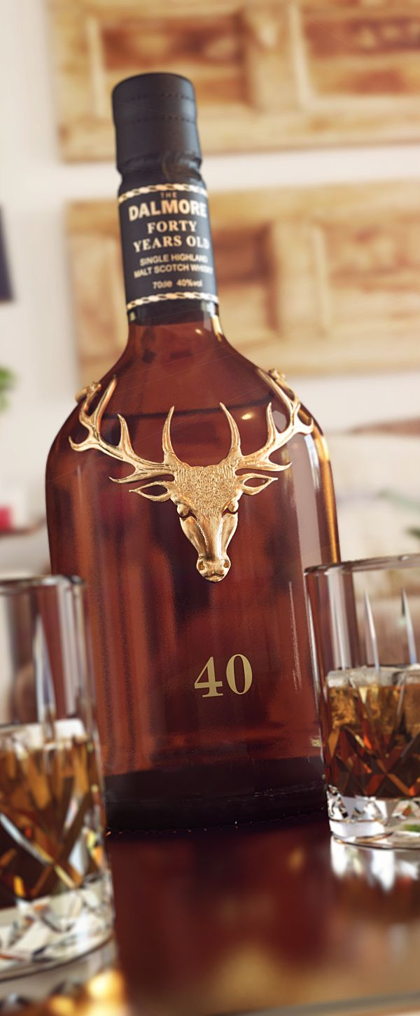 Not many things better than scotch and whiskey branding... except the scoth and whiskey. Dalmore 40 by Antonio Luna, via Behance