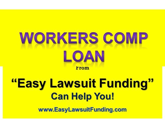 """Visit http://www.easylawsuitfunding.com/Workers_Comp_Funding.html to learn about: Workers Compensation Lawsuit Funding– Workers Comp Lawsuit Loan If you were injured at your workplace and now waiting for your Workers Comp claim or settlement and need cash today to survive financially until you win or settle your case, """"Easy Lawsuit Funding"""" can help you with a settlement loan or lawsuit funding against your expected lawsuit settlement. Visit now: Visit http://www.easylawsuitfunding.com"""
