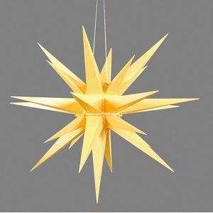 World of Light Herrnhuter Advent Stars Original Herrnhuter Advent Star for outdoor use yellow - 68cm / 27 inch