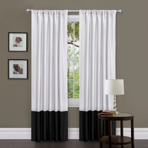 couleur rideaux salon noir et blanc en 240 de hauteur - Rideaux Salon