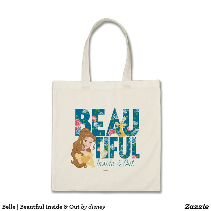 Belle | Beautfiul Inside & Out. Producto disponible en tienda Zazzle. Accesorios, moda. Product available in Zazzle store. Fashion Accessories. Regalos, Gifts. #bolso #bag