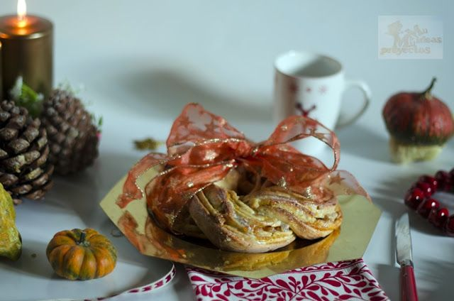 kringle-calabaza-nueces1 http://www.milideasmilproyectos.com/2016/12/kringle-de-calabaza-y-nueces-con-y-sin.html
