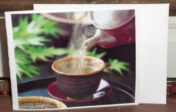 JAPANESE TEA  Genmaicha  plus CARD Under 5 by SouthamptonCreations