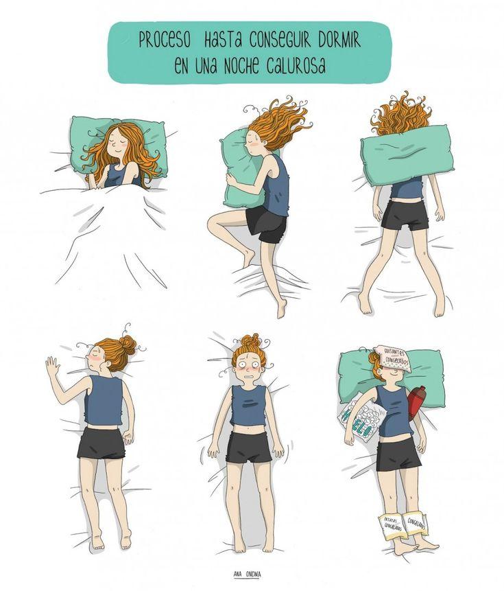 Dormir en una noche calurosa. #humor #risa #graciosas #chistosas #divertidas