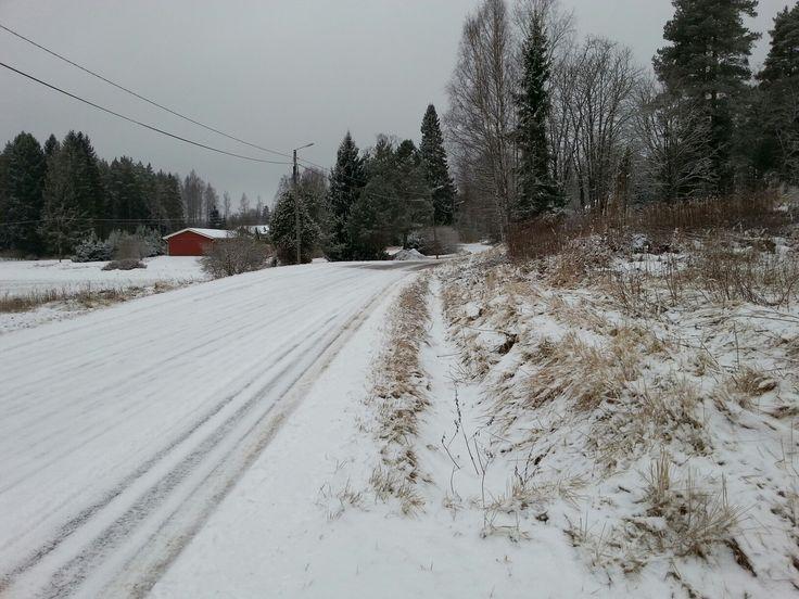 March 31 , 2017 . The Snowfall in Spring in Nurmijärvi  . FINLAND  .