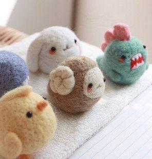 Kawaii Mini Felt Animal Phone Charm Dust Plug Bunny/ Dinosaur/ Chick/ Whale/