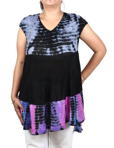 Summer Top Rayon Colorful Tie Dye Embroidered Indian Dress ShalinIndia http://www.amazon.in/dp/B00CRA58WG/ref=cm_sw_r_pi_dp_U-00tb0KFF6104JB