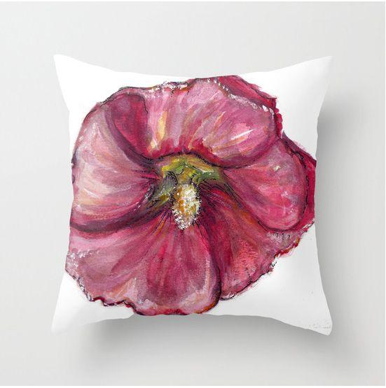 Hollyhock cushion