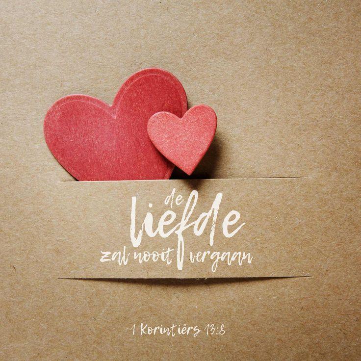 De liefde zal nooit vergaan. Profetieën zullen verdwijnen, klanktaal zal verstommen, kennis verloren gaan. 1 Korintiërs 13:8  #Liefde  https://www.dagelijksebroodkruimels.nl/1-korintiers-13-8/