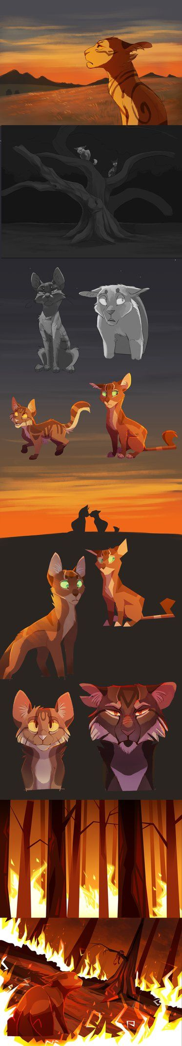 Fanart of my favourite book series whilst growing up, Warrior Cats by Erin Hunter.