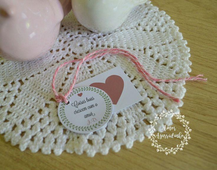 Cartão romântico- Coisas boas crescem com o amor 💙