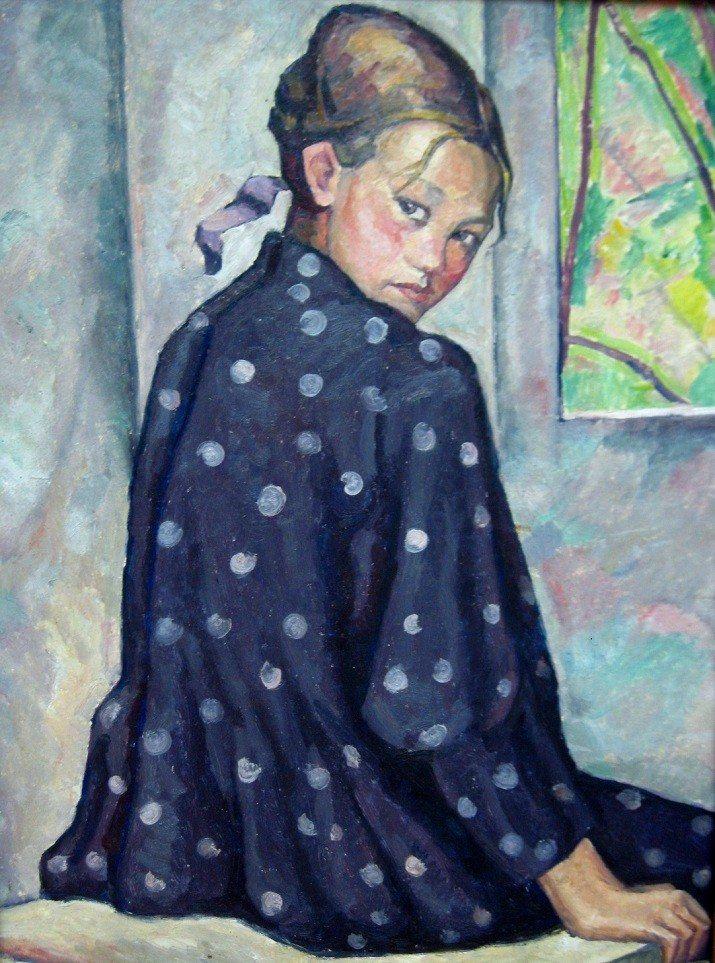 Portret de Fata by Camil Ressu, (Romanian 1880-1962)