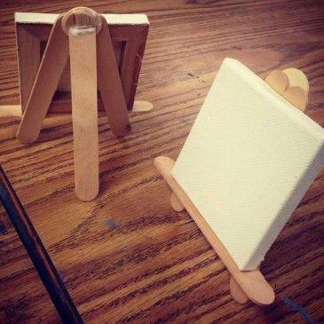 Popsicle Stick Easels Several ideas