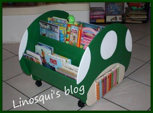 diy une biblioth que pour enfant version geek mushroom. Black Bedroom Furniture Sets. Home Design Ideas