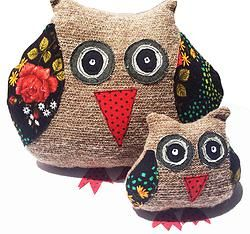 Classic Mintchi Owl - Floral LRG
