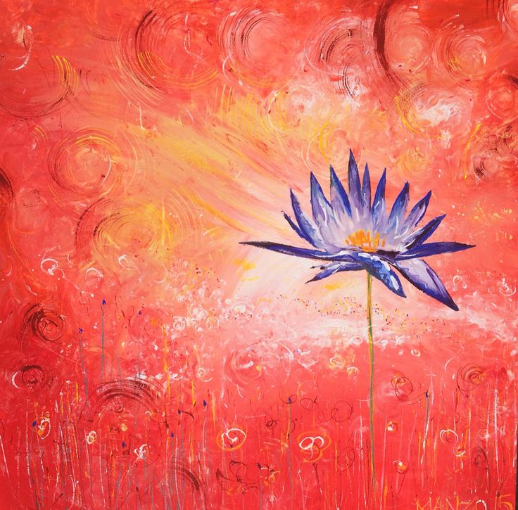 Waterlily. Prophetic art painted live at King's Church 2015