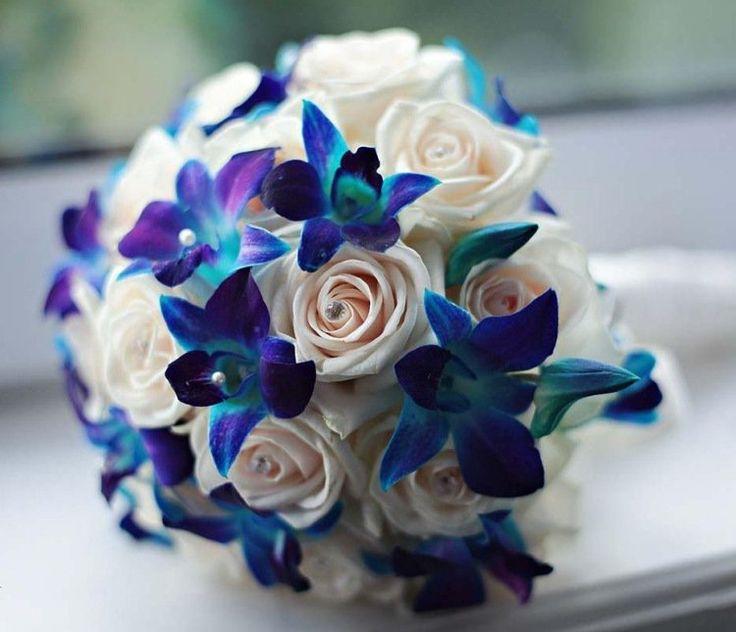 Bien connu Les 25 meilleures idées de la catégorie Bouquets de mariage bleu  UY31