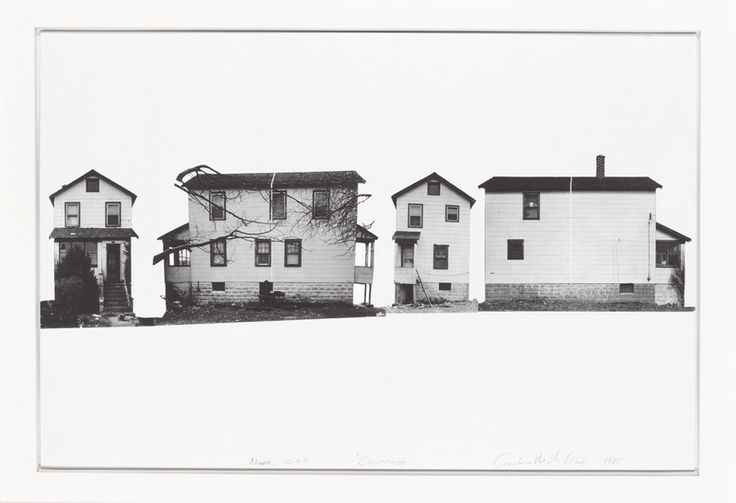 Gordon Matta-Clark,Splitting 10 & 11, 1975. Photograph by Sheldan C. Collins.© Estate of Gordon Matta-Clark. Courtesy David Zwirner, New York.
