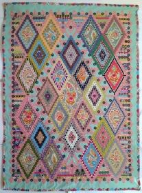 Pattern for replica of Mary Tolman quilt from 1857.