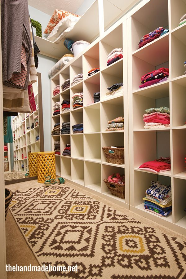 Family closet - I like the idea of having it all in one place!!