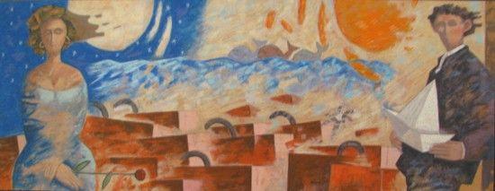 Partenze, Giampaolo Talani, http://www.galleria-galp.it/shop/index.php/artisti/giampaolo-talani/partenze-285.html