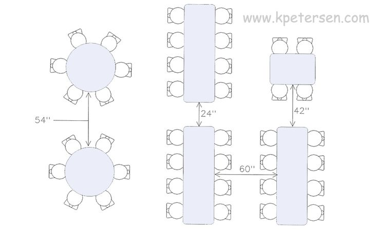 Image Result For Banquet Table Sizes