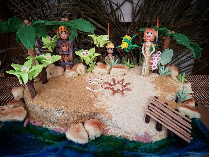 Gilligan's Island themed 50th birthday cake.