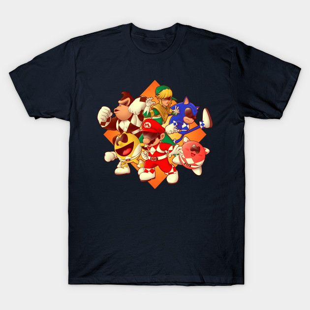 Mighty Gaming Rangers T-Shirt - Video Game T-Shirt is $14 today at TeePublic!