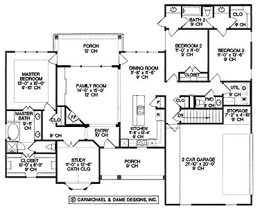 Floor plans aflfpw03382 1 story ranch home with 3 - Average square footage of a 3 bedroom house ...