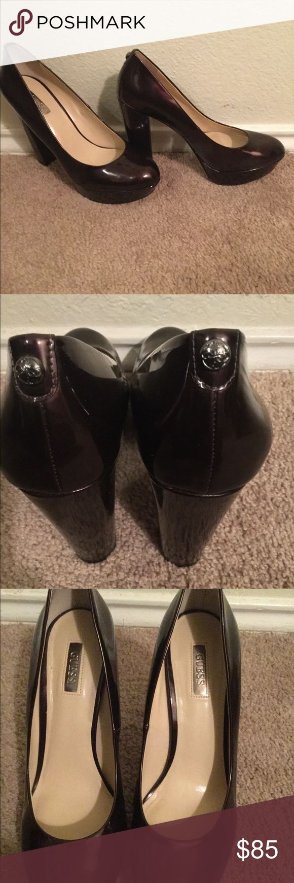 Guess Shoes These are gently used Guess shoes that have been used once. Extremely good condition Guess Shoes Heels