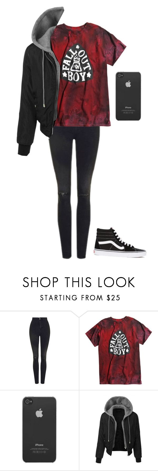 """""""masculine band tee outfit"""" by addict-with-a-cas ❤ liked on Polyvore featuring Topshop, Incase, LE3NO and Vans"""