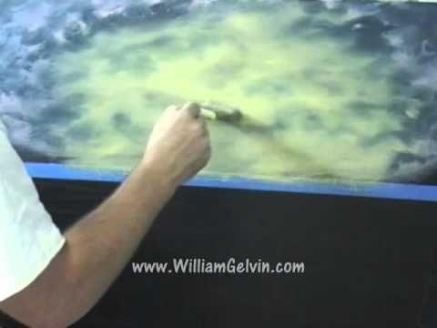 William gelvin oil paints sea scape PART 1 of 2.