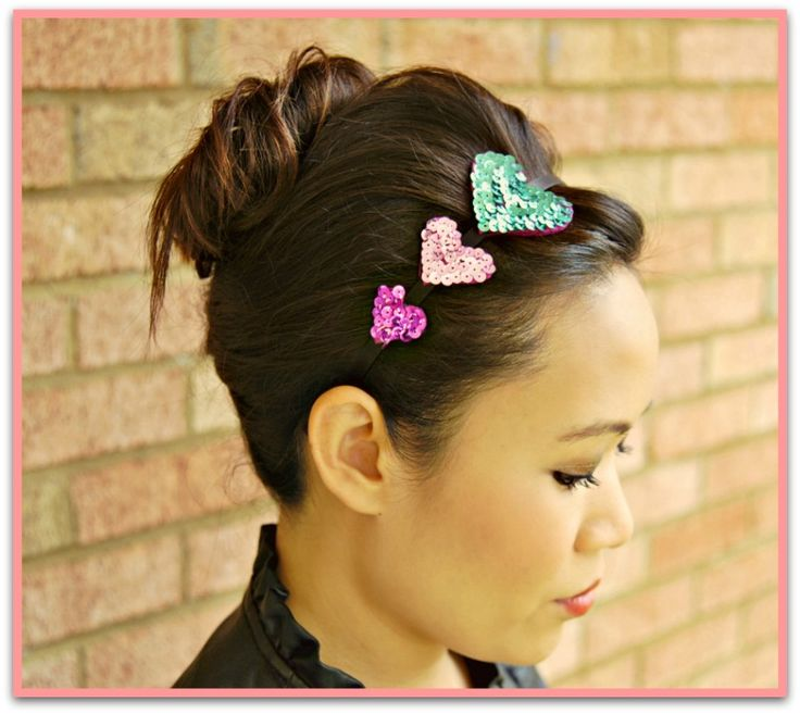 Valentine's Day craft:  Tutorial for felt and sequin hearts headband