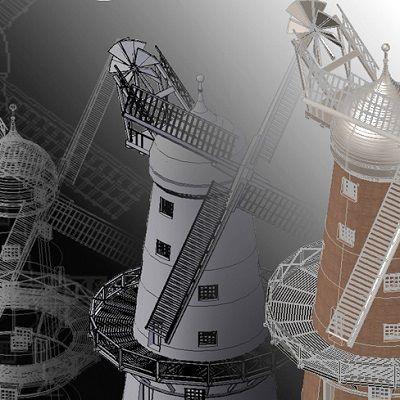 Green's Windmill - 3D CAD Modelling