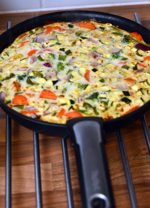 Eggehvite-omelett (Bakekona)