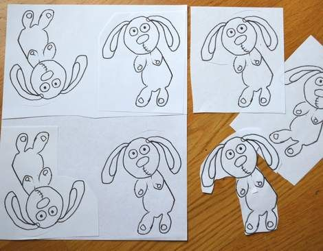 11 Knuffle Bunny template copies