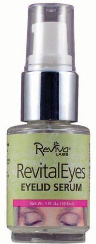 RevitalEyes-Serum-Eyelid 1 Ounces by Reviva. $16.10. 1 Ounces Liquid. Serving Size:. For eyelids and now for under- eye darkness too! The delicate eyelid area, often overlooked in skin-care, needs a very special biological liquid to help firm and vitalize eyelid tissue-to avoid eyelid sag or drooping. Our serum is ideal for eyelid problems-and now offers brightening ingredients to help lighten under-eye darkcircles.