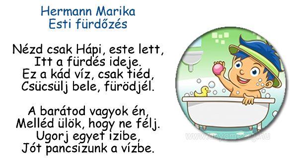 Mesés esti fürdözős versike :)