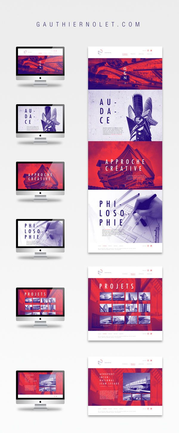 Gauthier & Nolet - architect firm website design by Justin Bechard