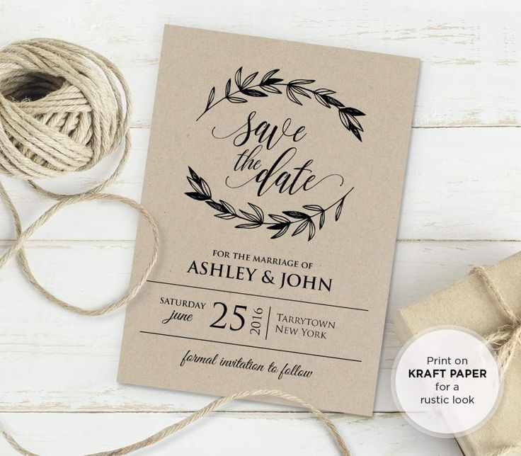 free rustic vintage wedding invitation templates - Free Templates For Wedding Invitations