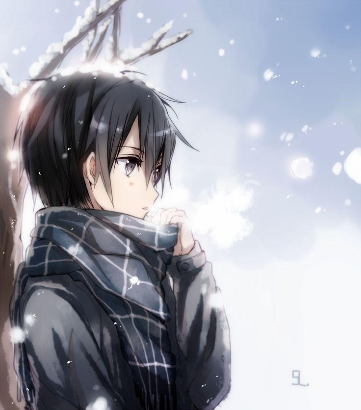 I know this person is from Sword Art Online as like the most badass person I mainly know, but for how much black he wears, the scarf that he is wearing, and for the type of season it is... he would be who I would look like honestly