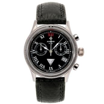 Reloj Junkers Cronógrafo F13 Lady, esfera negra y correa cuero negro. Junkers Watch for Lady. JU6585-2. http://www.tutunca.es/reloj-junkers-cronografo-negro