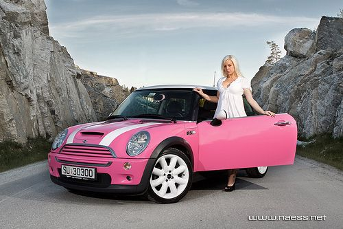 mini coopers minis and pink cars on pinterest. Black Bedroom Furniture Sets. Home Design Ideas