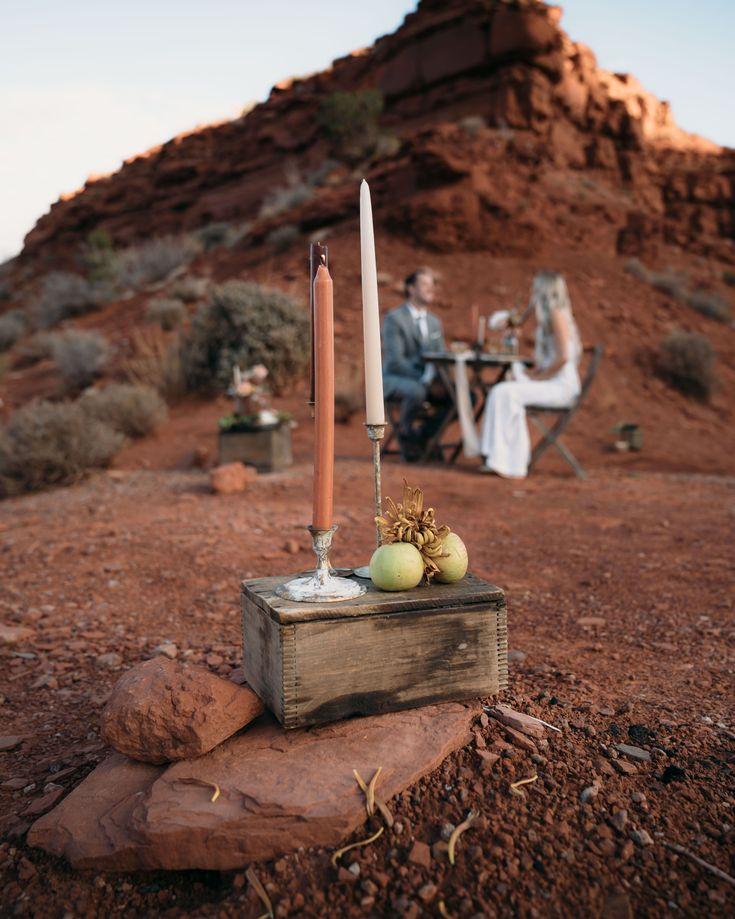 Boho inspired Utah desert elopement in 2020 Wedding