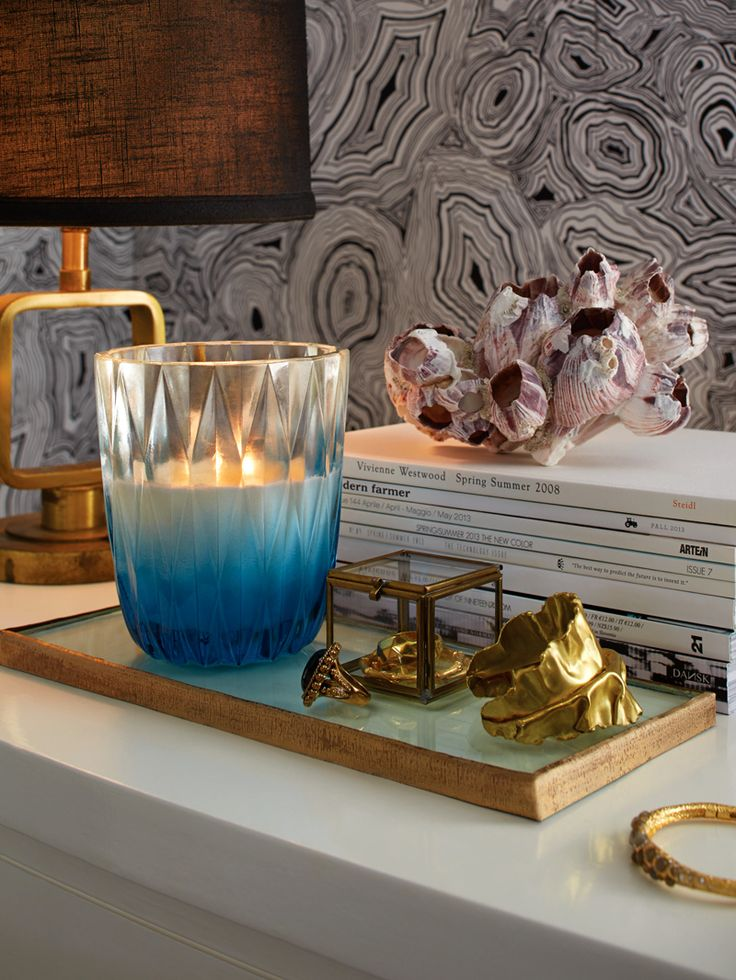 Illume Gallery Glass Candle - Blue Coral