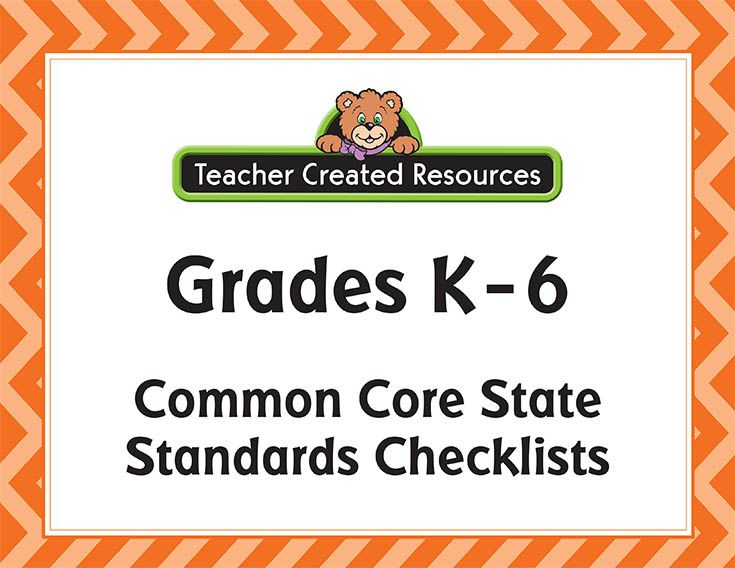 Common Core State Standards: Accessible Correlations and Free Checklists