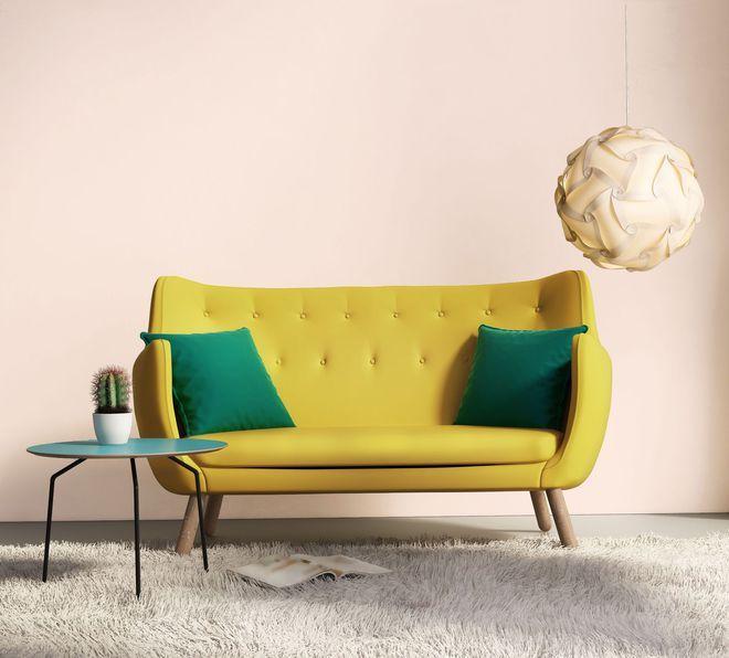 Wohnzimmerfarbe: 30 trendige Farben zur Neulackierung des Wohnzimmers   – Estelle Hardy