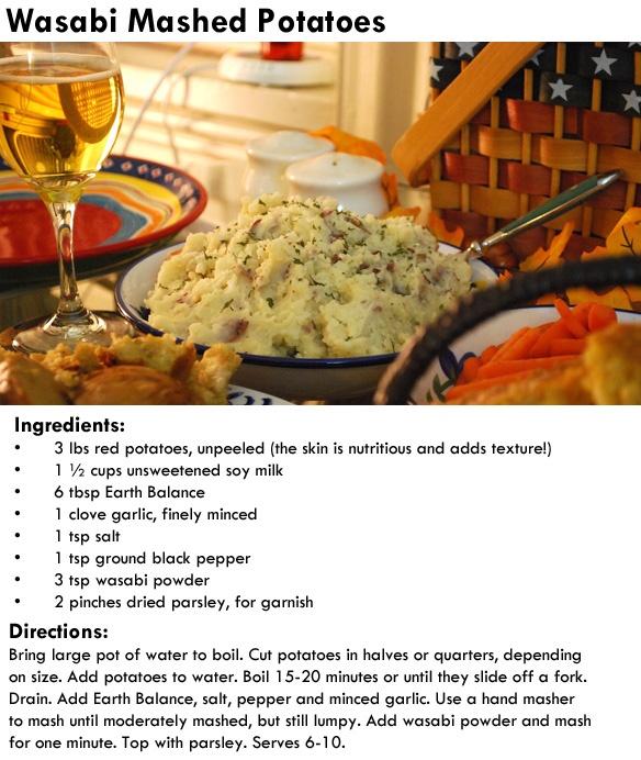 Vegan Wasabi Mashed Potatoes | Yummy Recipes | Pinterest