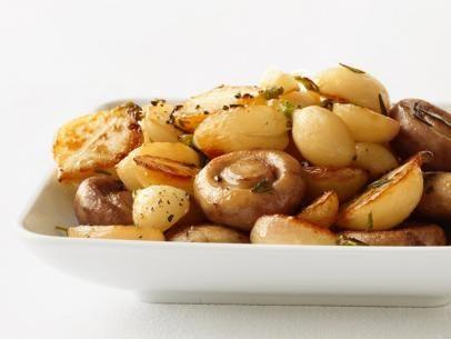 Roasted Turnips and Mushrooms