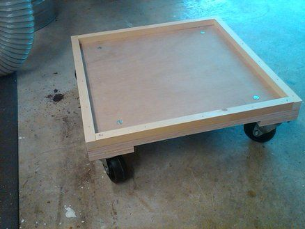 Air Compressor Cart with fold down handle for $8